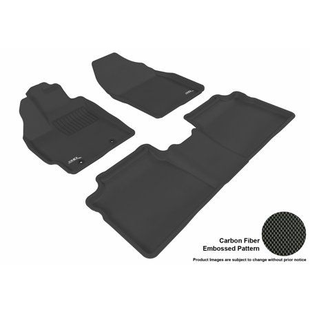 3D MAXpider 2012-2015 Toyota Prius Front & Second Row Set All Weather Floor Liners in Black with Carbon Fiber Look – Walmart.com