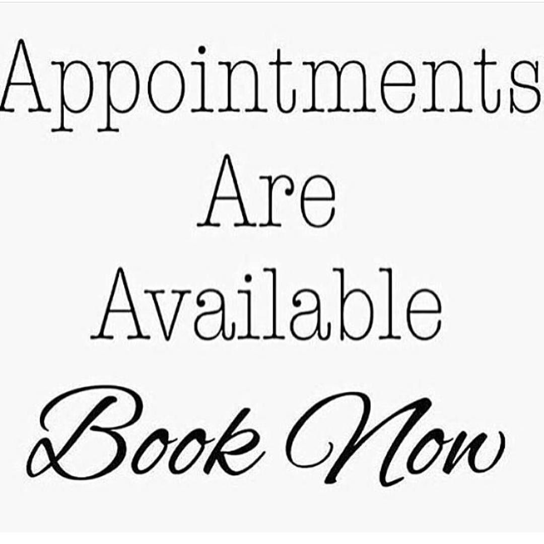 Appointments are now available for Wednesday and Friday