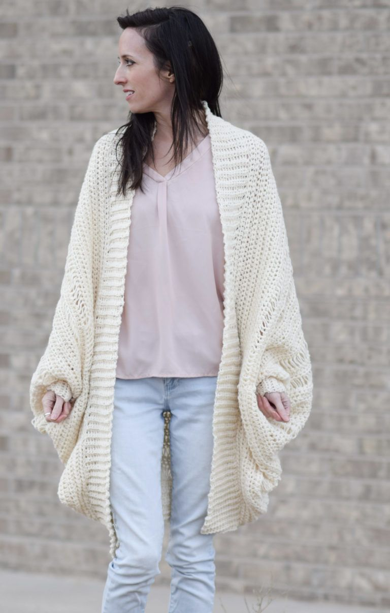 Pretty Drop Stitch Cardigan Beginner Crochet Sweater | Crochet ...