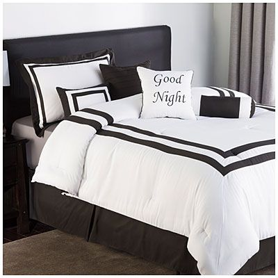 Hotel Collection Black And White 8 Piece Queen Comforter