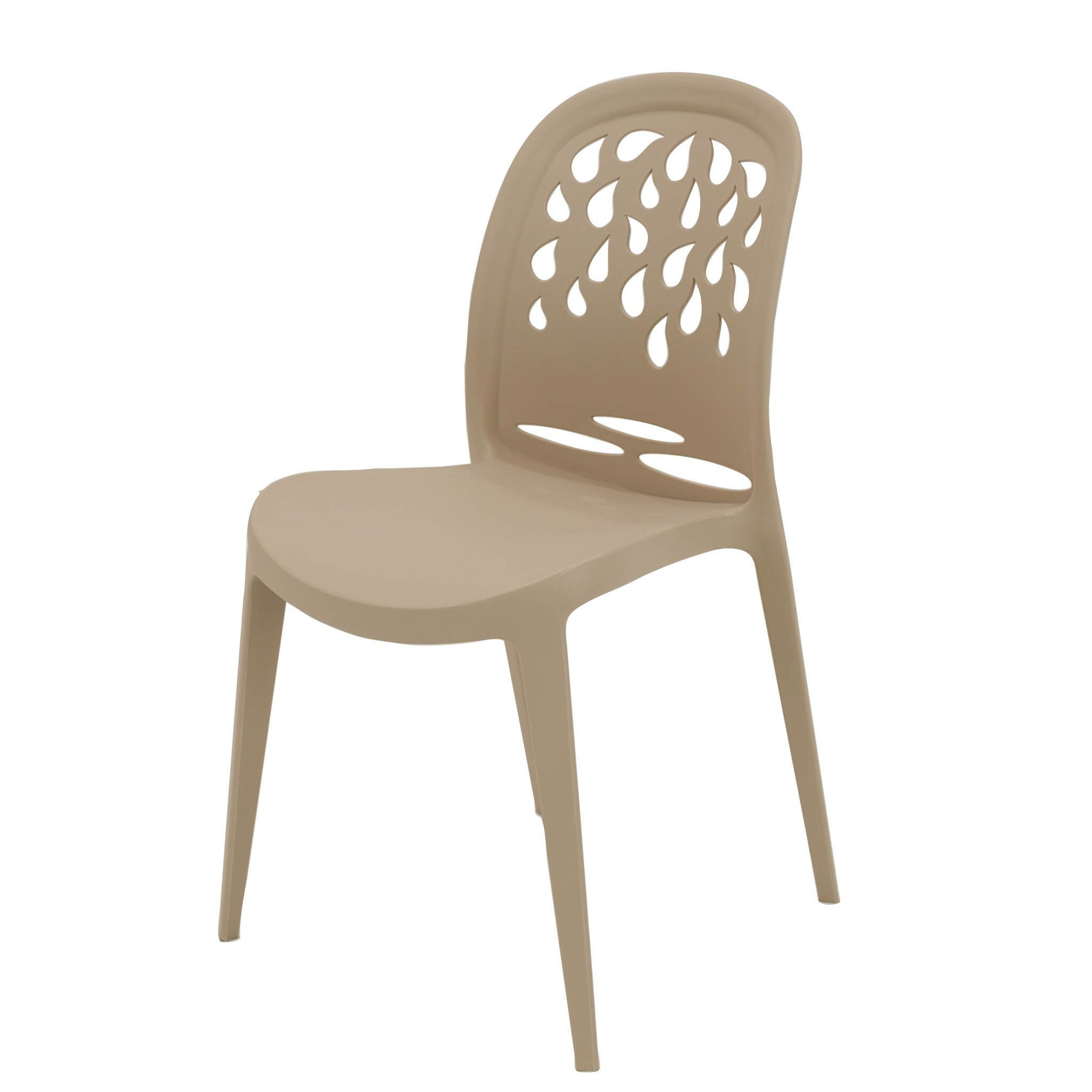 Michael Anthony Furniture Taupe Teardrop Dining Chair Set Of 4
