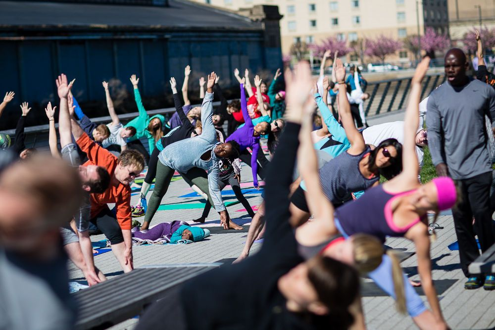 Image result for free yoga at race street pier