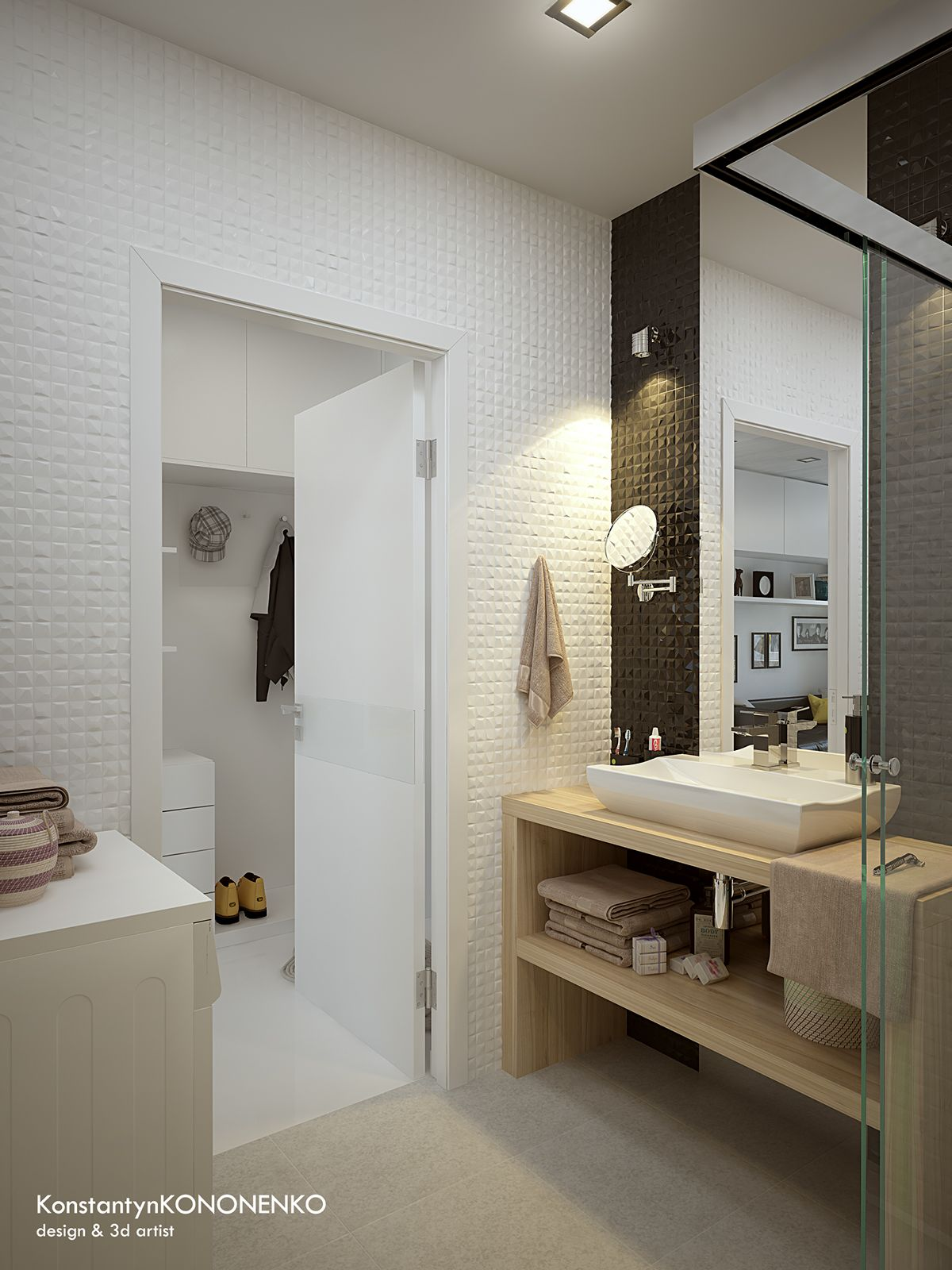 5 Apartment Designs Under 500 Square Feet Open Plan Bathroom Design Modern Bathroom Design Apartment Design