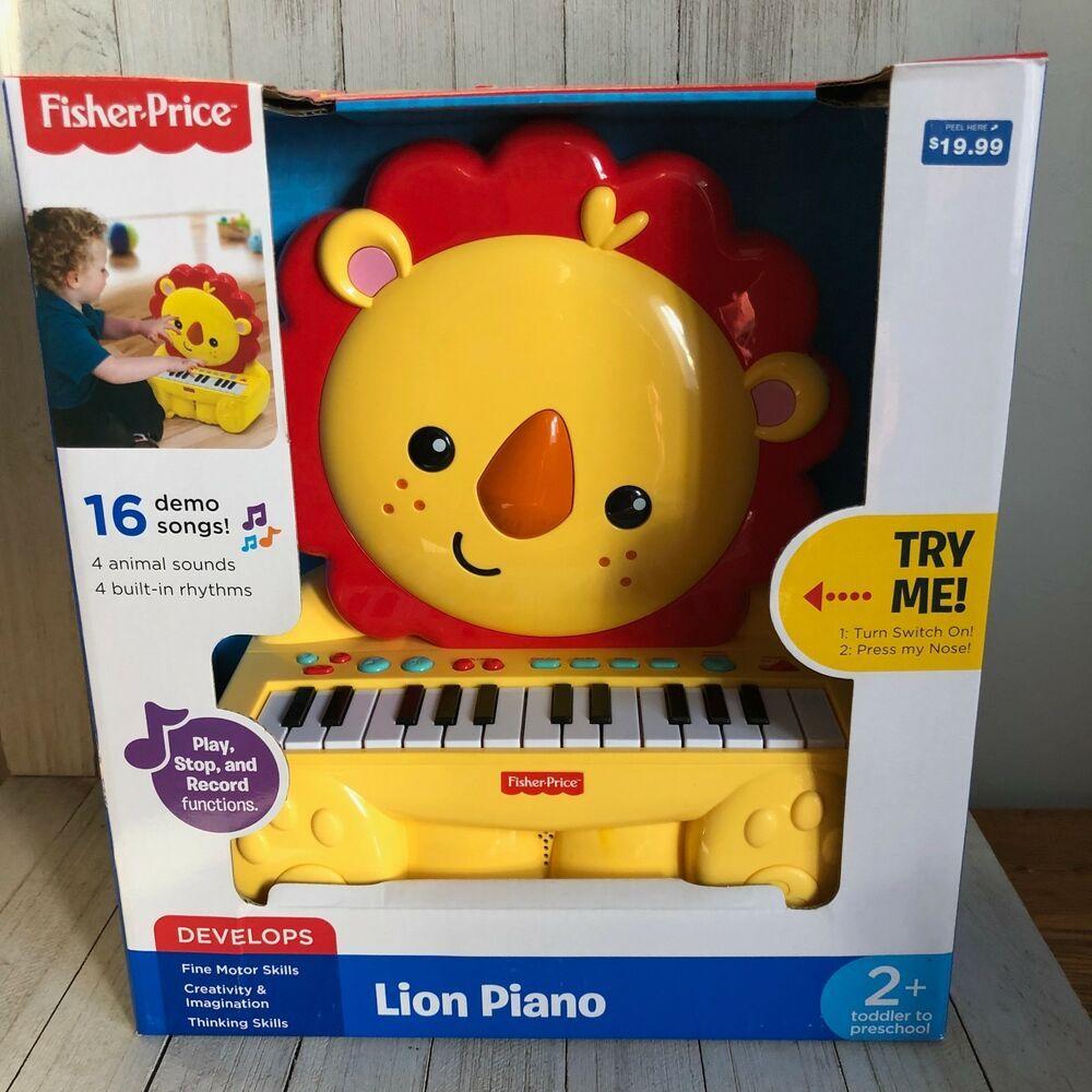 FisherPrice Lion Piano Music & Sound New Sealed
