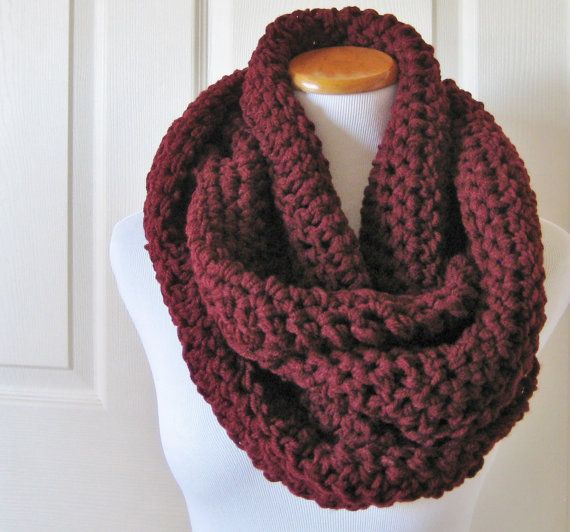 Large Oversized Infinity Scarf Hood Cowl Neck by PeppersAttic