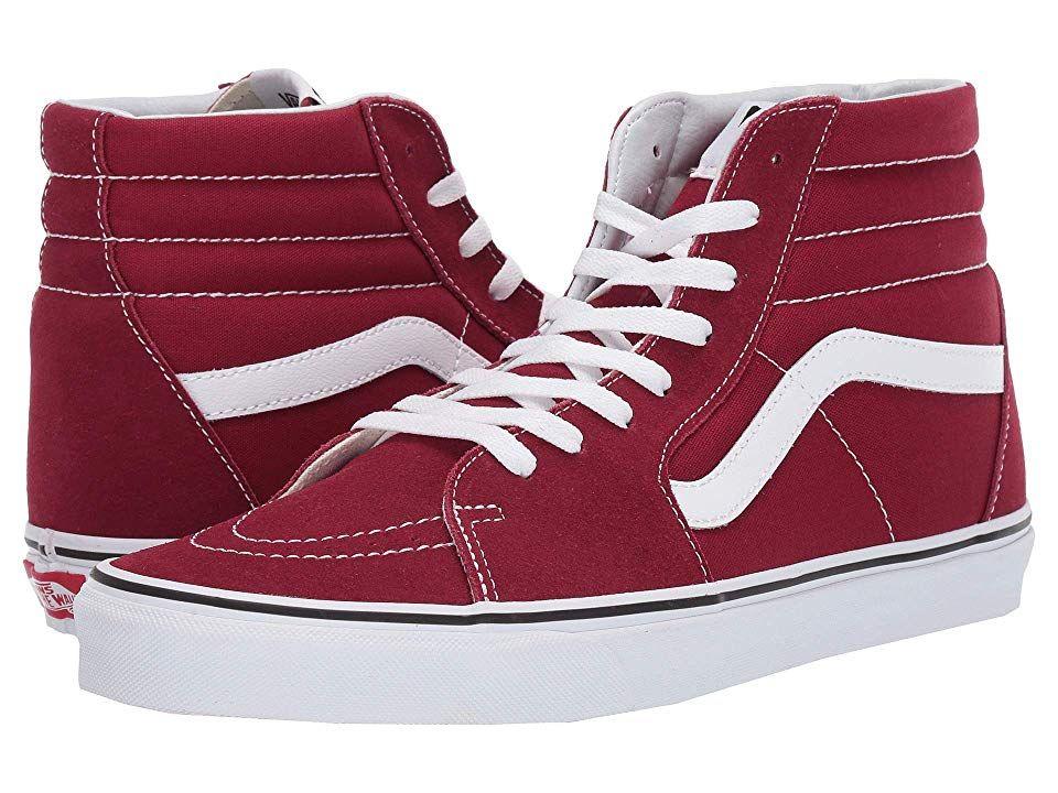 9c127878e0a Vans SK8-Hitm Skate Shoes Rumba Red True White in 2019