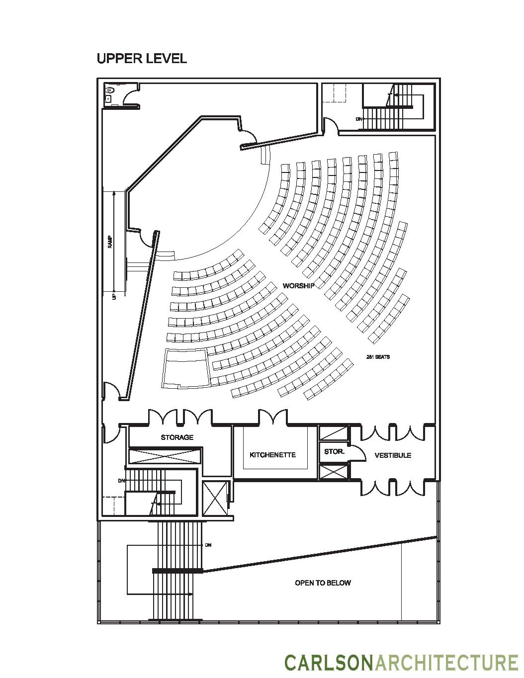Small church floor plan church building plan church for Modern church designs and floor plans