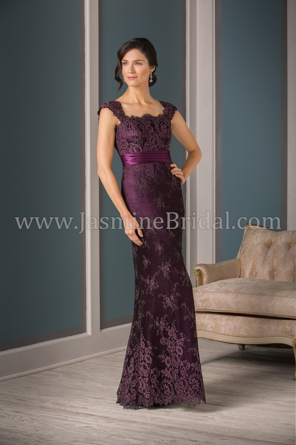 Jasmine Bridal Jade Couture Style K188003 In Bordeaux Purple