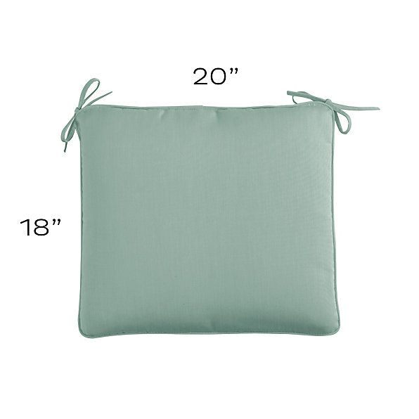 Outdoor Chair Cushion With Knife Edge Welts B European Inspired Home Decor