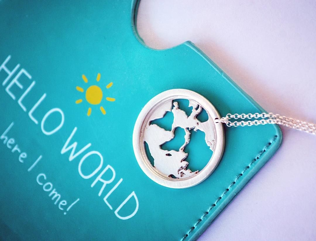 If you could travel anywhere in the world where would you go world map necklace gifts for women send off gifts travel necklace globe necklace world necklace world traveler traveler gift gumiabroncs Choice Image