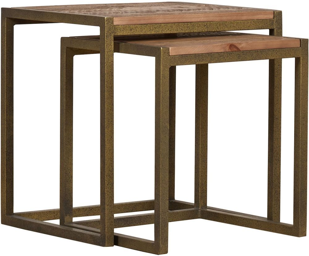 Mark Webster Barclay Pine Nest Of Tables Online By Designs From Cfs Uk At Unbeatable Price