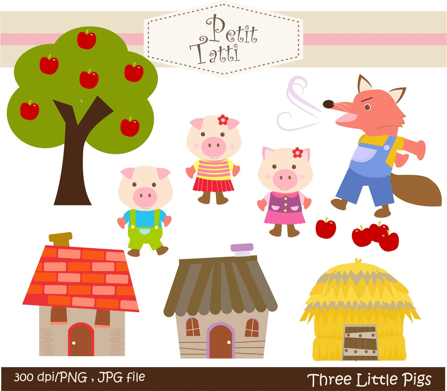 Clip Art Three Little Pigs Clipart 1000 images about three little pigs on pinterest