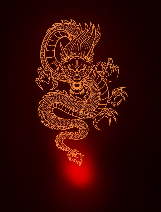 Learn How To Design A Chinese Fire Dragon In Photo