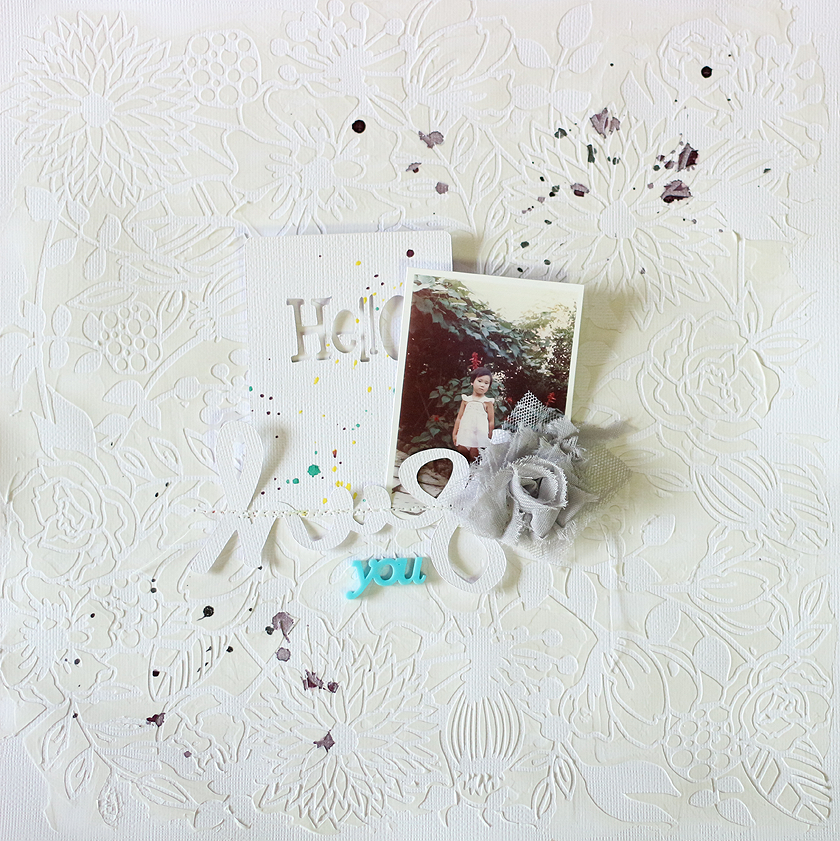 PHOTO + PAPER + STAMP = CRAFTTIME!!!: LAYOUT - HUG YOU