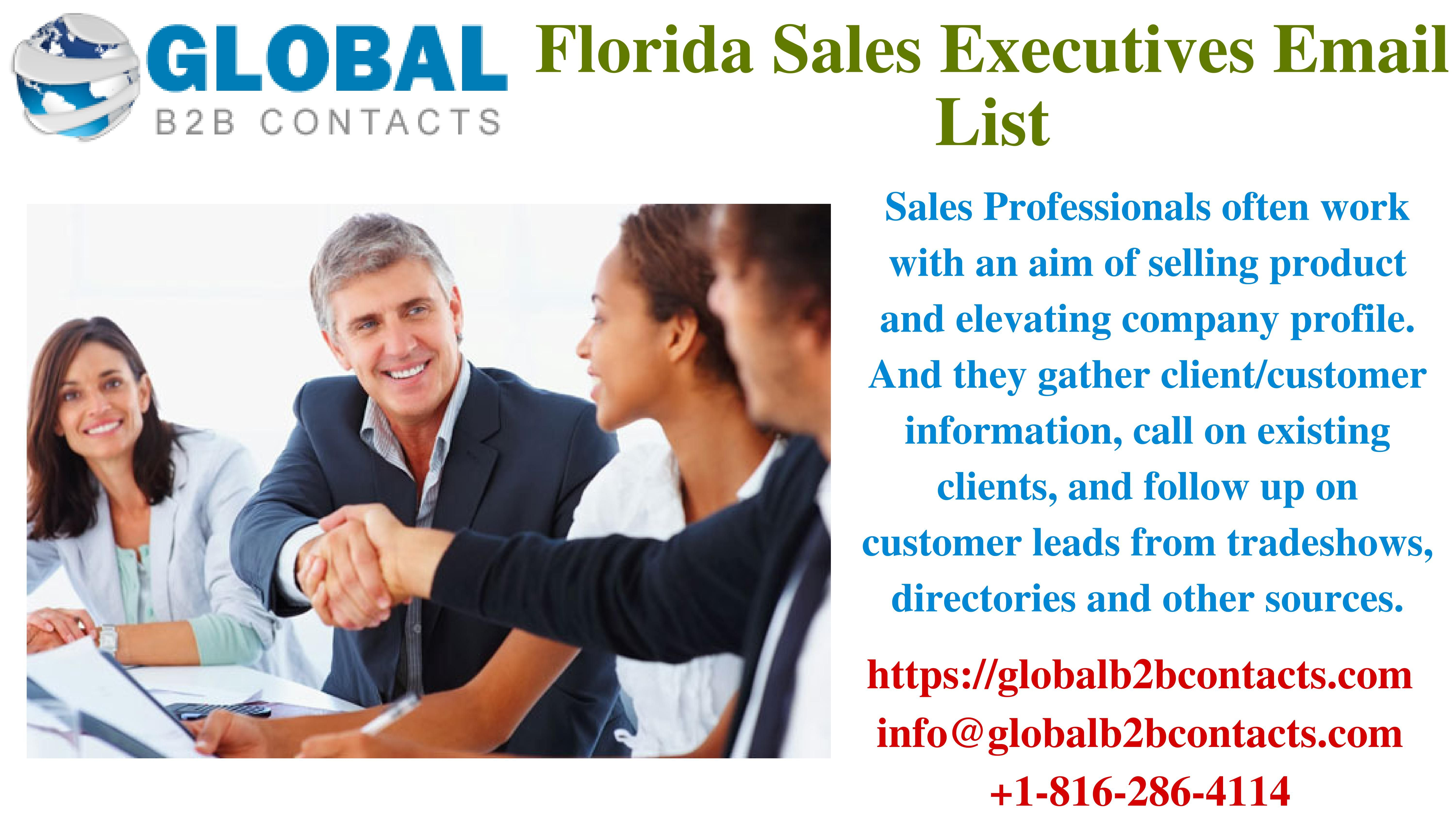Florida sales executives email list accounting services