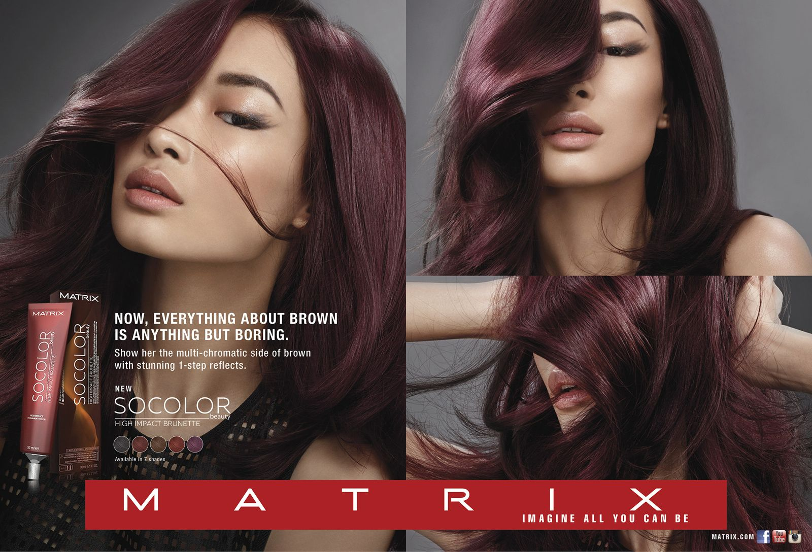 Matrix So Color Brown Copper And Brown Red Swatches Matrix Hair Color Matrix Hair Color Chart Copper Brown Hair