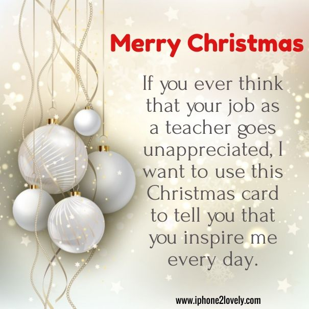 Christmas Message For Teachers | Merry Christmas Quotes Wishes ...