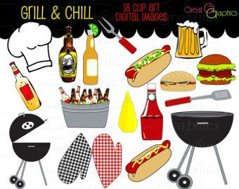 Barbecue Clipart Image - Hot Dogs Cooking on a BBQ Grill | Bbq grill, Bbq  grill diy, Backyard bbq grill