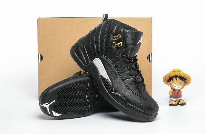 5a676141ab4201 Air Jordan Big Boy Shoes Young 12 XII The Master Poster Wing Black ...