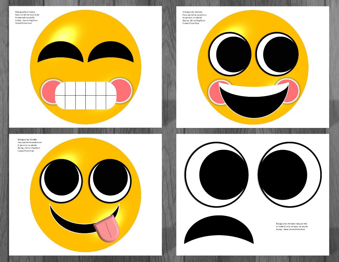 Emoji Printable Birthday Supplies