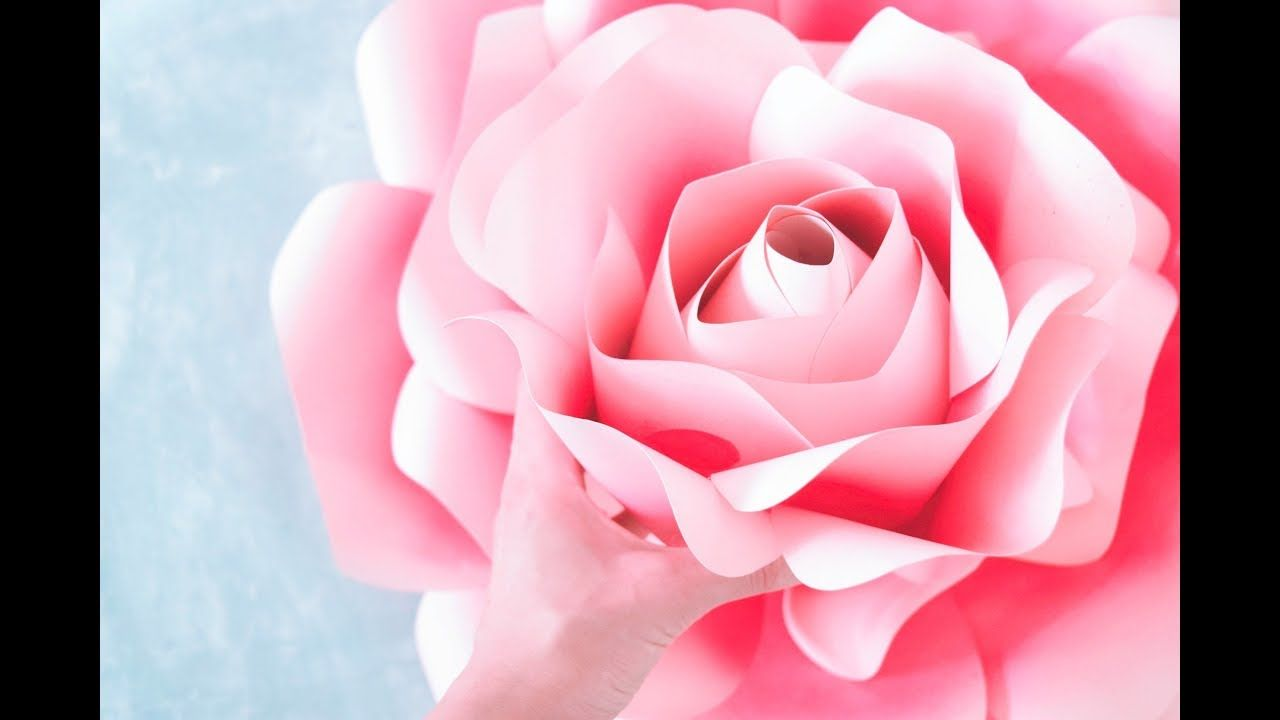 How to Make Giant Paper Roses Rose Tutorial u Templates  paper