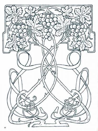 Colorear libro de hadas de la tierra - diseños art nouveau ...