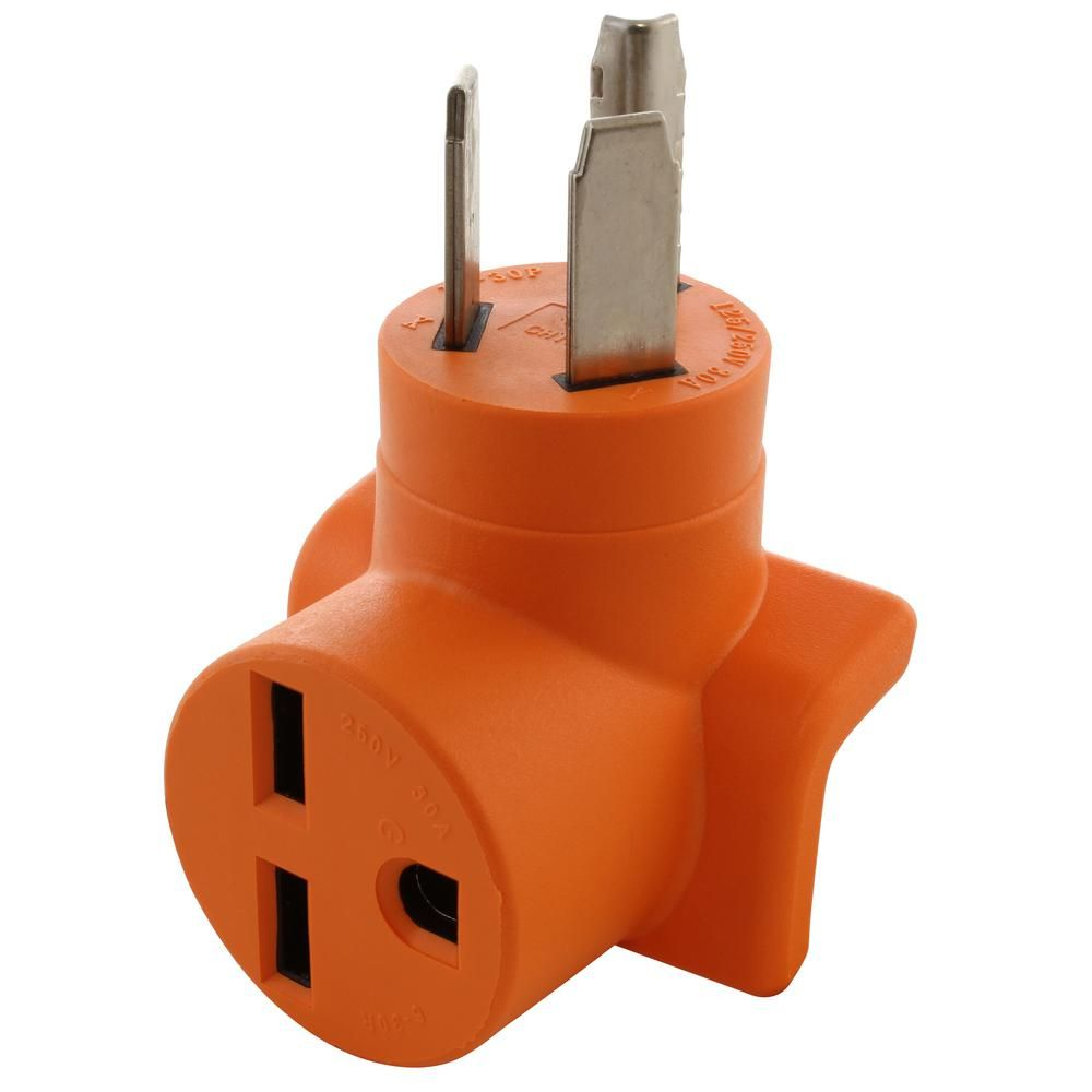 Ac Works 30 Amp 10 30 3 Prong Dryer Plug To 6 30r 30 Amp 250 Volt Commerical Hvac Female Adapter Orange Dryer Plug Plugs Dryer Outlet