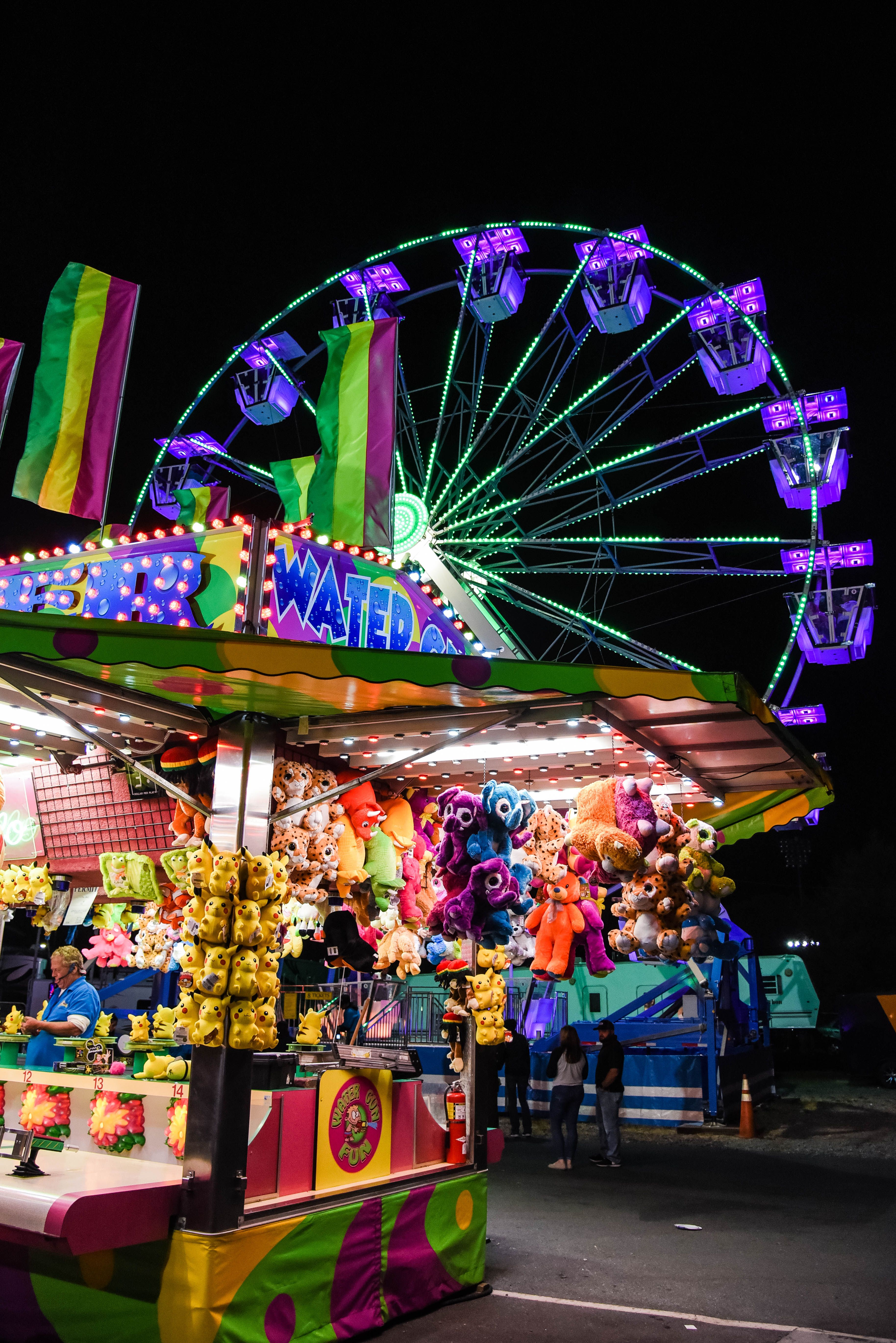 Dixie Classic Fair, Carnival, Neon Lights, Creepy, Winston Salem, North Carolina,