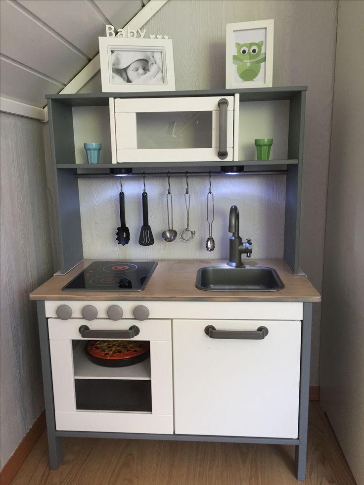 IKEA Ducty hack kids kitchen spraypainted gray Ikea