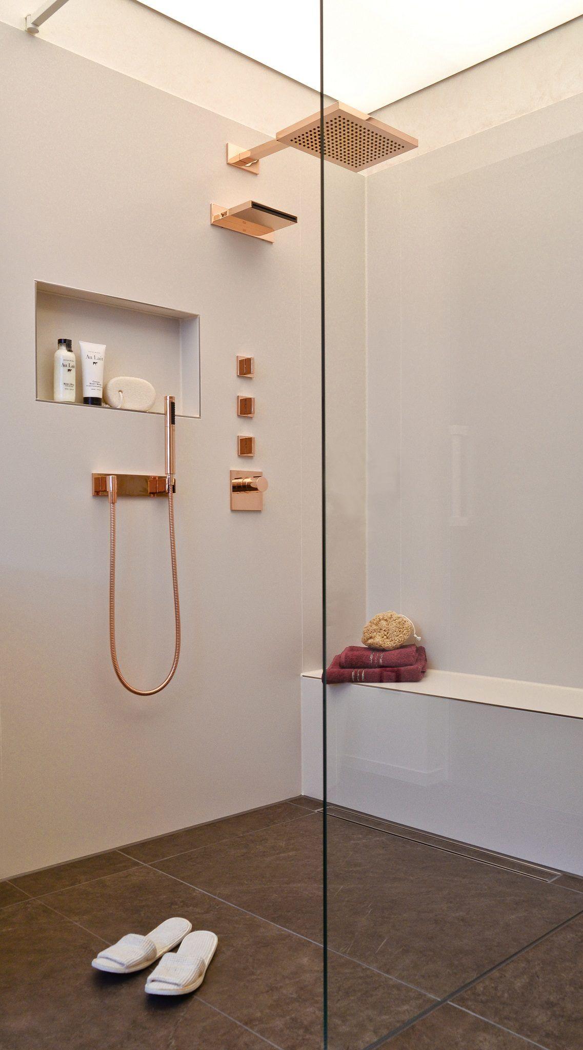 Begehbare Dusche mit Sitzbank Mehr Komfort beim Duschen