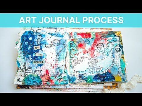 FREE ART JOURNAL TUTORIAL ON YOUTUBE. #rubberdancestamps #artjournaling #artjournal #cardmaking #artjournallove #mixedmediaart #mixedmedia #markmaking #abstractart   #artjournalpage #stamping  Intuitive Art Journal Process - Mixed Media Mark Making (No Voice Over) #artjournalmixedmediainspiration