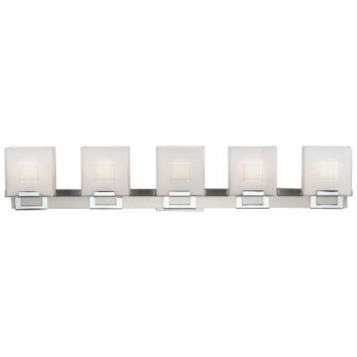 Square Bath Bar 5 Light Open Box Return By Philips Forecast Lighting With Images Contemporary Bathroom Lighting Bathroom Vanity Lighting Wall Ceiling Lights