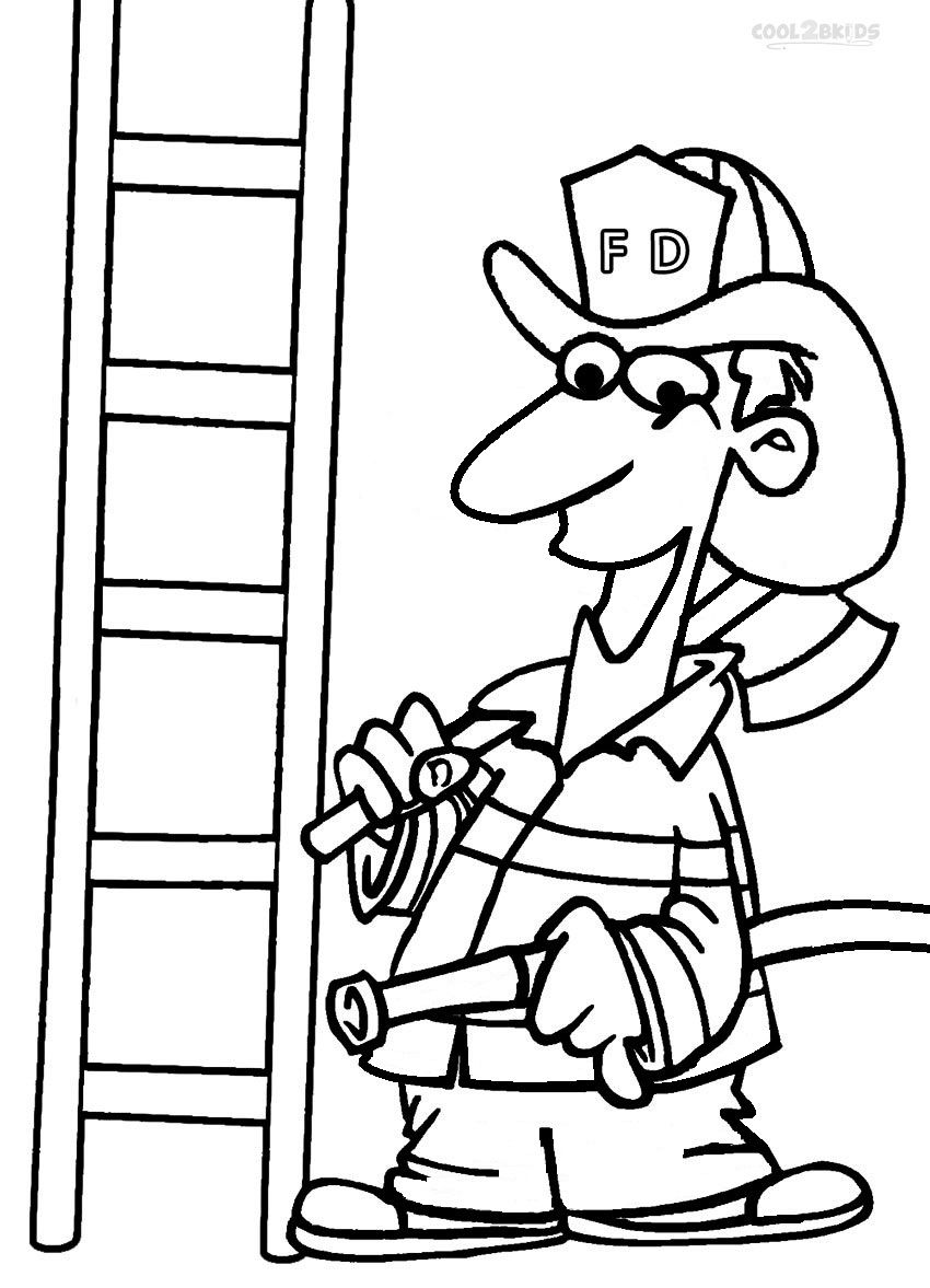Free Printable Fireman Coloring Pages | Cool2bKids | Miscellaneous ...