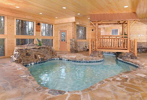 Attractive Copper River, Pigeon Forge, TN Indoor Heated Pool, Two Waterfalls, Luxury  Cabins