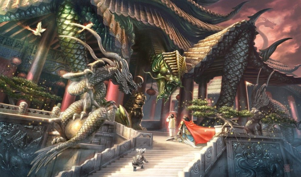 2D Art: Veranda Majestic by Jerome Moo