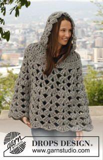 Thick and Neutral Crochet Poncho | AllFreeCrochet.com