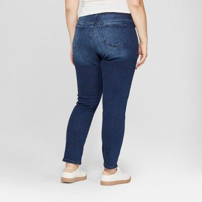 f2c48e3d753b8 Maternity Plus Size Crossover Panel Skinny Jeans - Isabel Maternity by  Ingrid