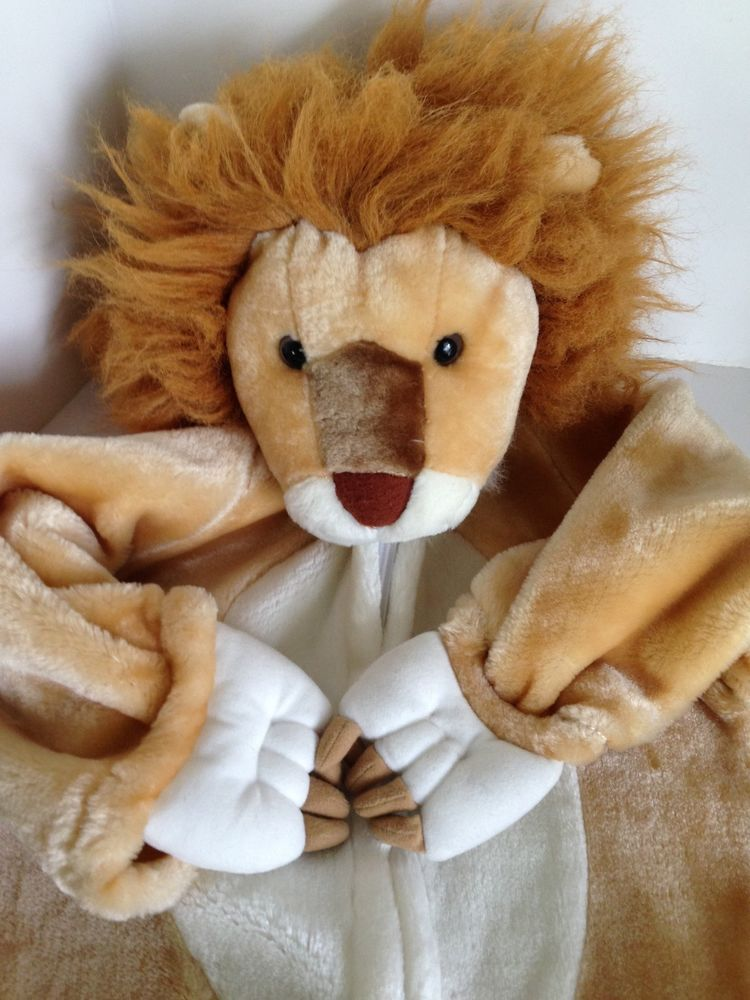 Child 2T 3T Lion King Costume Brown Plush Hood Paw u0026 Shoe Cover flaps Halloween # & Child 2T 3T Lion King Costume Brown Plush Hood Paw u0026 Shoe Cover ...