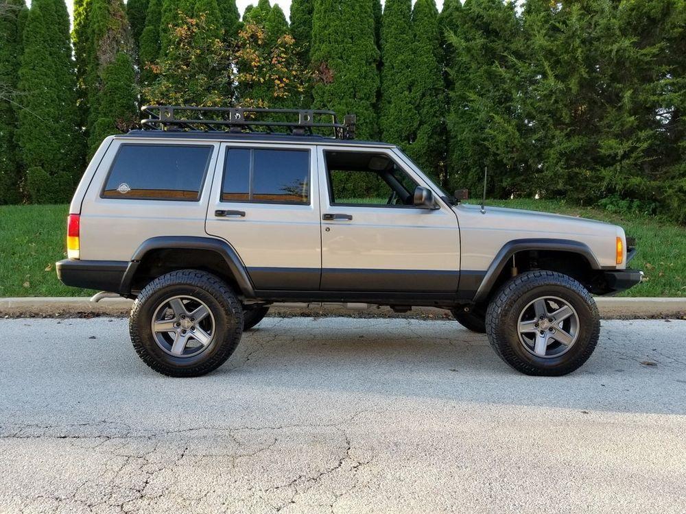 eBay 2000 Jeep Cherokee Sport LIFTED LED LIGHTS FRESH