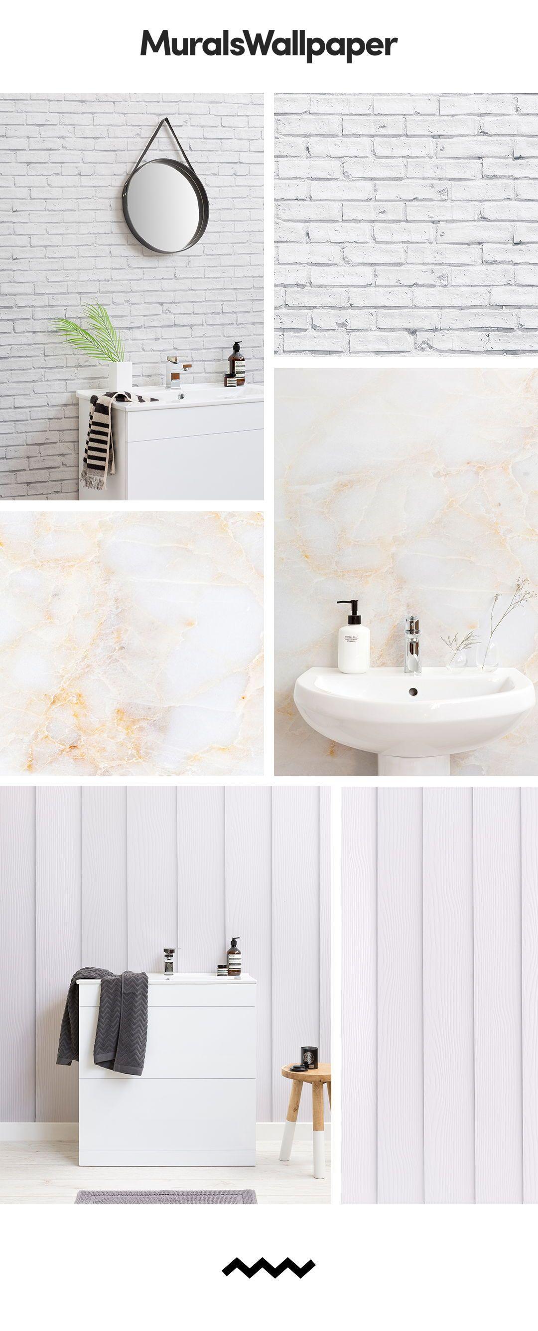 Créer un espace salle de bain propre et moderne avec des papiers ...