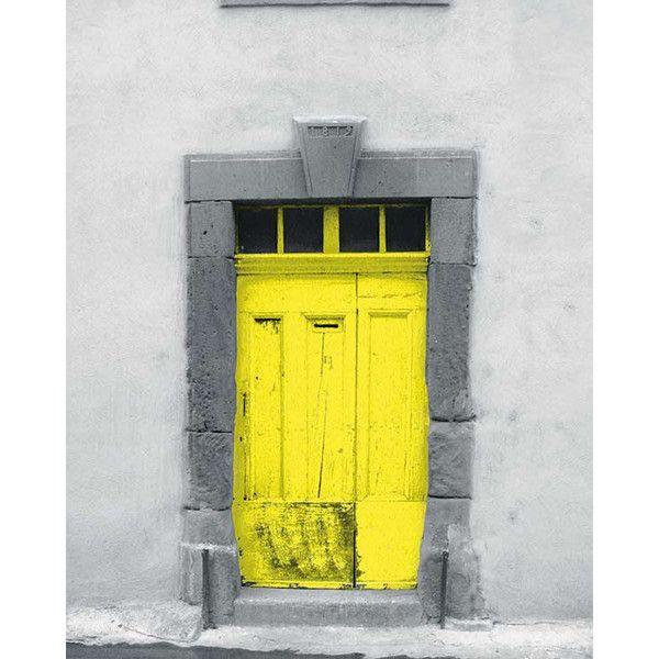 Bright Yellow Door, French Door, Europe Photography, Printable Wall ...