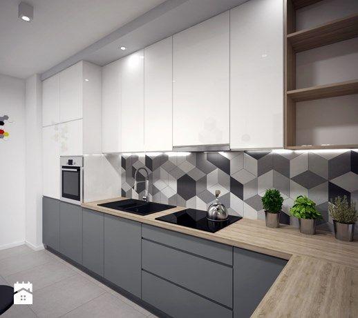 Aranzacje Wnetrz Kuchnia Kuchnia 1 Kuchnia Styl Nowoczesny Interiors Dawid Zieja P Kitchen Room Design Kitchen Furniture Design Kitchen Cabinet Design