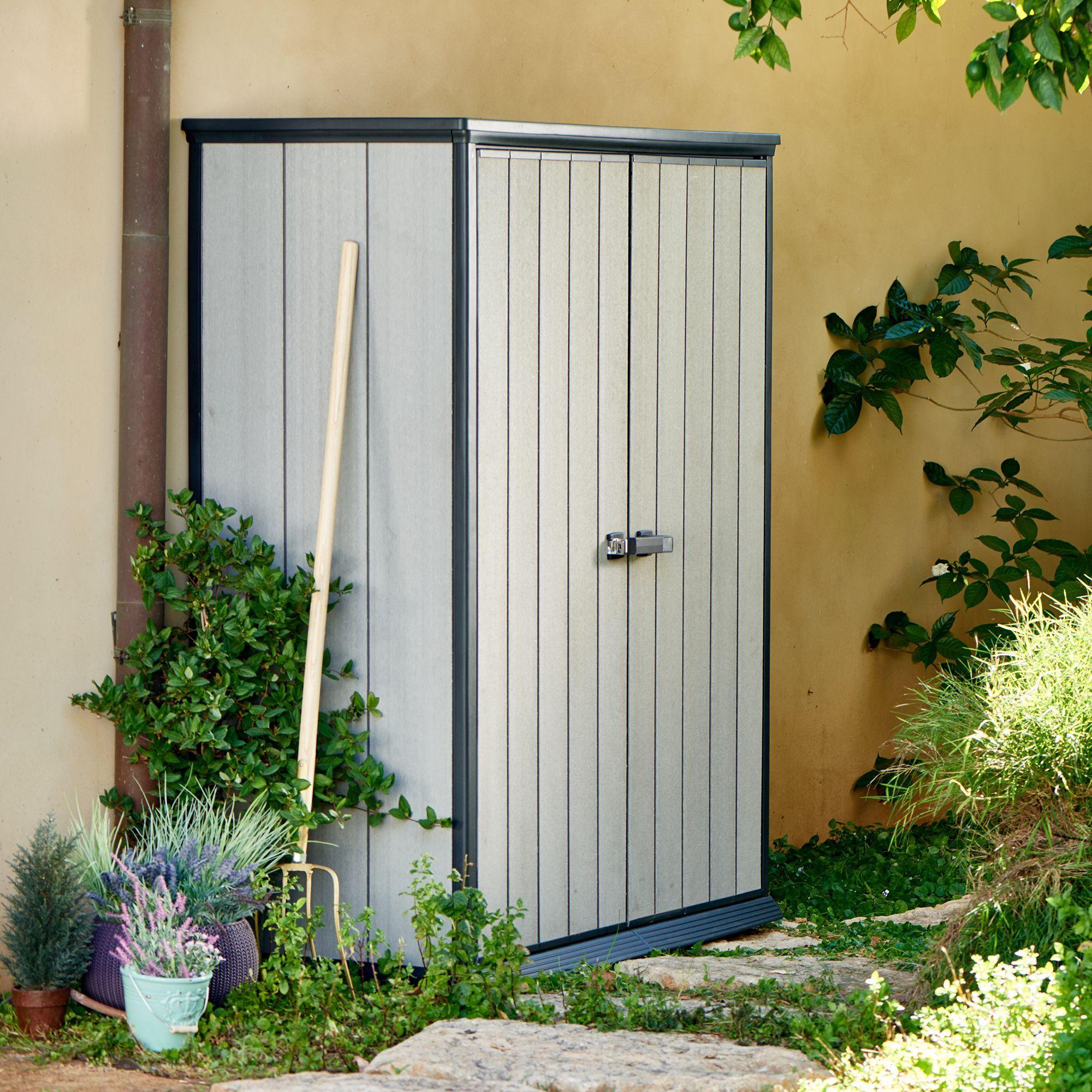 6x2 oakland high store plastic tall cabinet - Garden Sheds 6 X 2