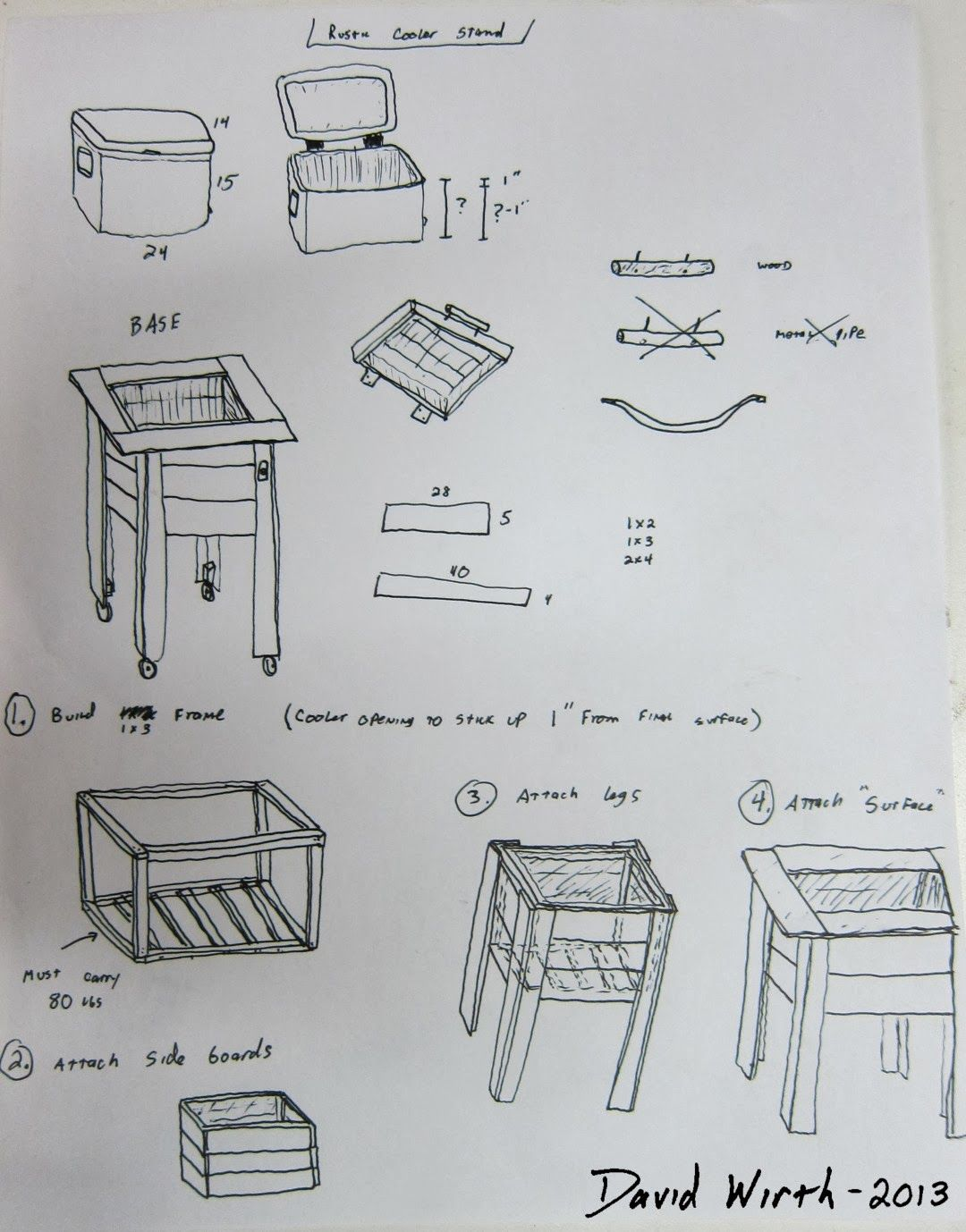 Outdoor wood pallet furniture 3 diy pallet projects with - Plans For Rustic Wood Pallet Cooler Stand Jpg Plans For Ice Cooler Chest