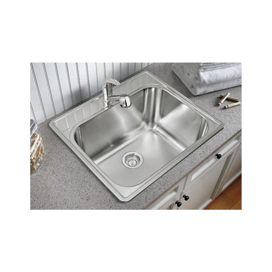 Lowes Stainless Utility Sink 21x25 Laundry Sink Laundry Tubs