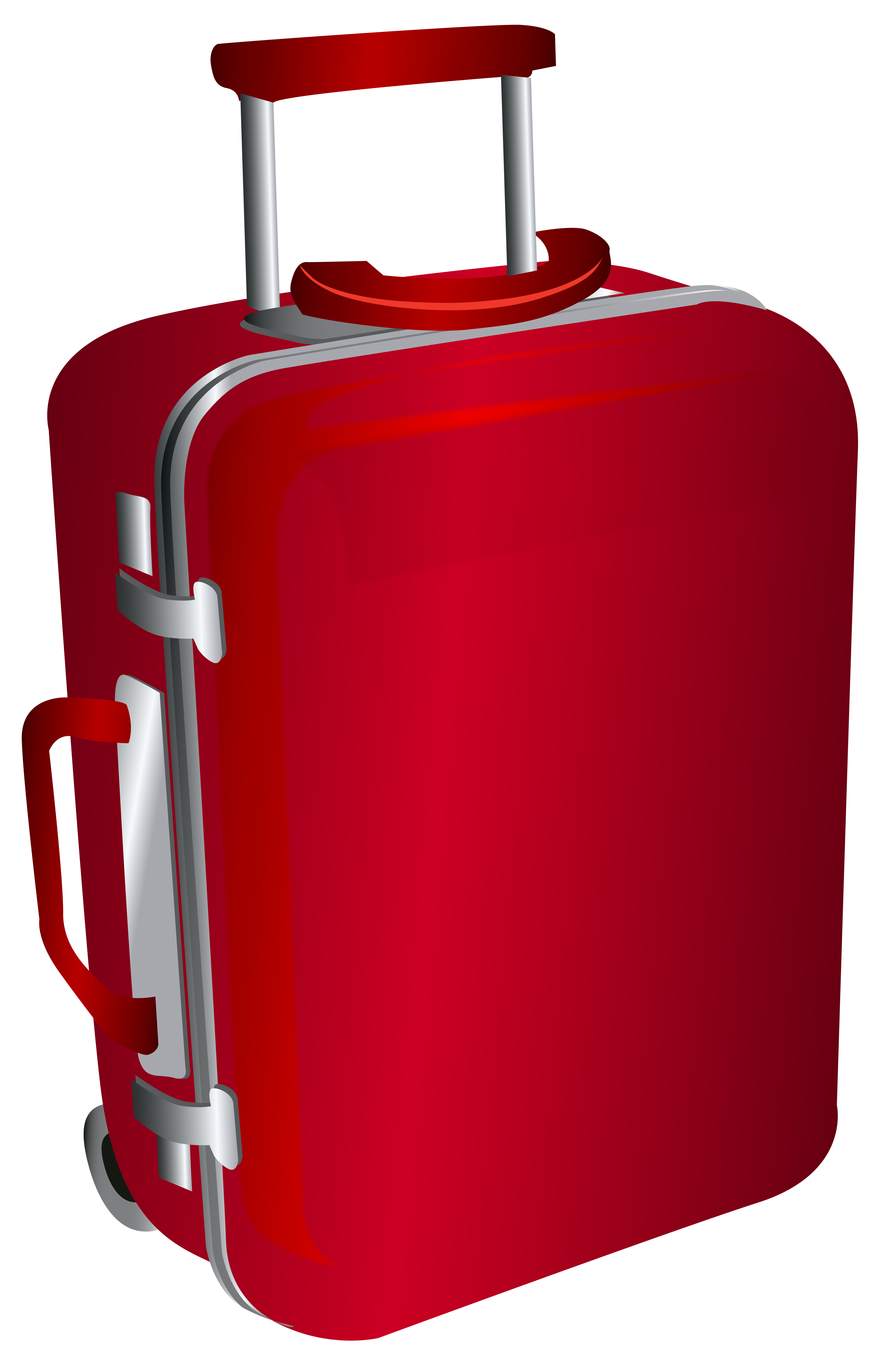 Red Trolley Travel Bag Png Clipart Image Clip Art Design Anime Scenery Wallpaper