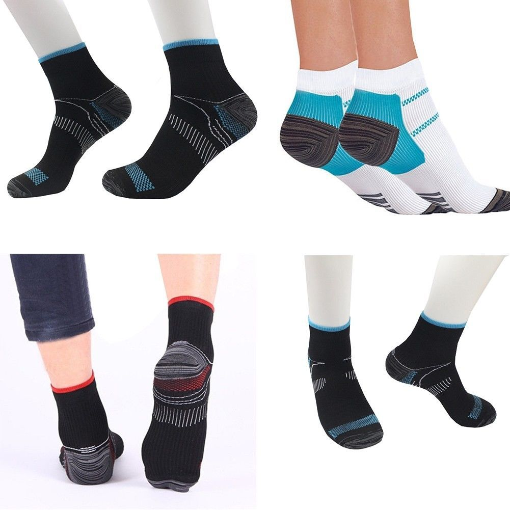 Pair Foot Compression Sports Socks Plantar Heel Arch Pain Relief