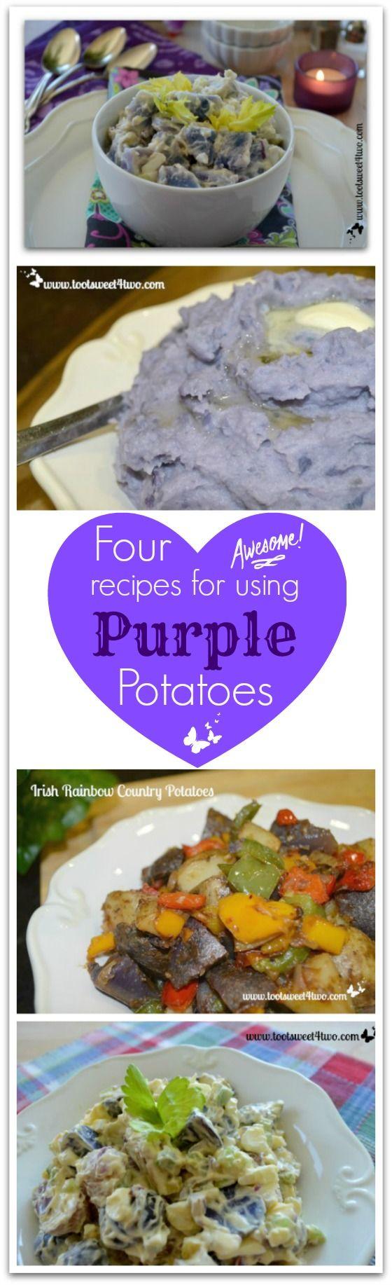 Purple Potato Salad plus 3 other recipes using purple potatoes!