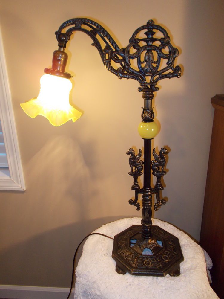 Art Deco Antique Bridge Arm Floor Lamp
