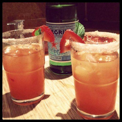 #pellegrino #strawberry #basil #wood #sugar #lemon #delicious #drink #fun #summer